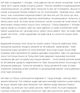 R.T.Erdoğan'ın cihat çağrısı